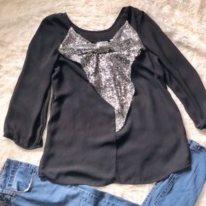 Bow on the back blouse